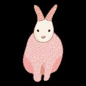 かわいい!オシャレな「うさぎ(兎・ウサギ)の フリー イラスト