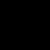 桜(さくら)の 白黒(白抜き)イラスト