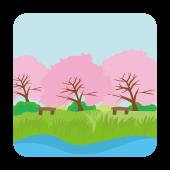 今がお花見のチャンス!桜満開のイラスト!