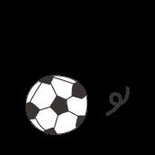 サッカーボールの手描き風タッチの 無料 イラスト【スポーツ】