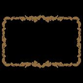 賞状(表彰状)の横フレームのテンプレートイラスト