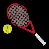 テニスラケット&テニスボールの 無料 イラスト