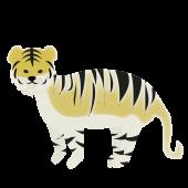 オシャレでかわいい♪虎(とら・トラ)の 無料 イラスト