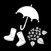 梅雨の時期にぴったり♪傘、長靴、紫陽花 イラスト