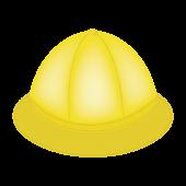 通園・通学帽子(黄色い帽子)の イラスト