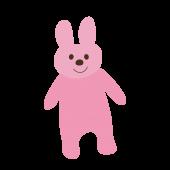 かわいい!立っているうさぎ(ウサギ)かわいい 無料 イラスト【動物】