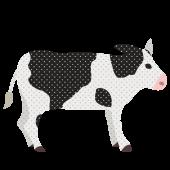 おしゃれ で かわいい♪ 牛(うし・ウシ)の フリー イラスト