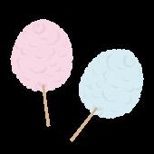 美味しそうな綿あめ(わたあめ)の 無料 イラスト