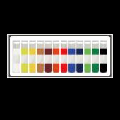 かわいい & おしゃれ♪ 絵の具(絵具)12色 の  フリー イラスト