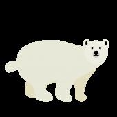 かわいい!白くま フリー イラスト 全身 リアル 風!(白熊・シロクマ)