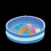ヨーヨー釣り(ヨーヨーすくい)のイラスト【お祭り!イベントに】