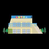 かわいい 幼稚園の建物 無料(フリー)イラスト素材♪